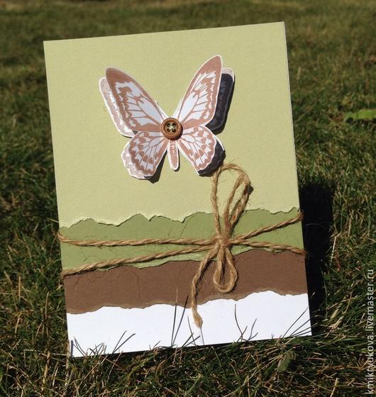 """Открытки на все случаи жизни ручной работы. Ярмарка Мастеров - ручная работа. Купить Открытка ручной работы """"Бабочка"""". Handmade. Разноцветный"""