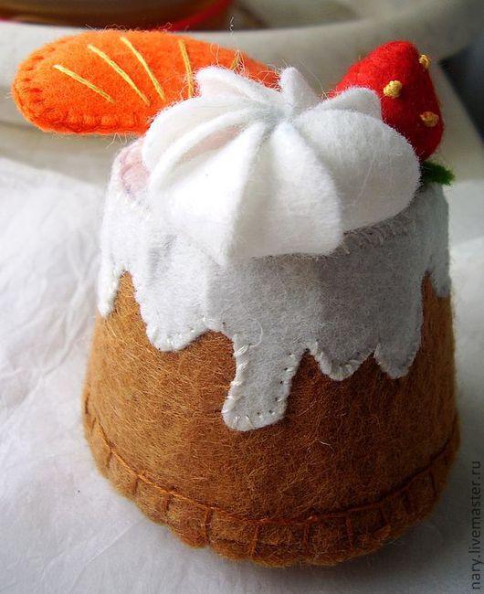 """Еда ручной работы. Ярмарка Мастеров - ручная работа. Купить Пирожное """"Фруктовый десерт"""". Handmade. Торт, текстильная игрушка, зефирка"""