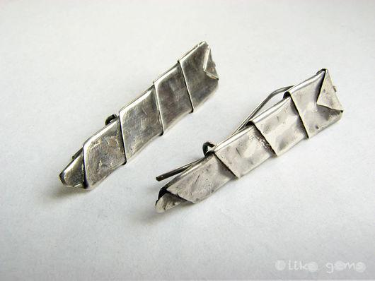 Серьги ручной работы. Ярмарка Мастеров - ручная работа. Купить Серьги Вершины из серебра. Handmade. Серебро, серебряный, серебро черненое