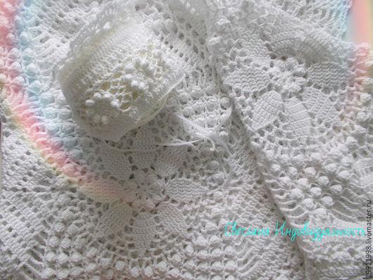 Пледы и одеяла ручной работы. Ярмарка Мастеров - ручная работа. Купить Плед Нежность. Handmade. Белый, плед в коляску