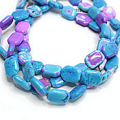 Материалы для творчества handmade. Livemaster - original item Howlite Beads 18h13mm USA Thread 20cm. Handmade.
