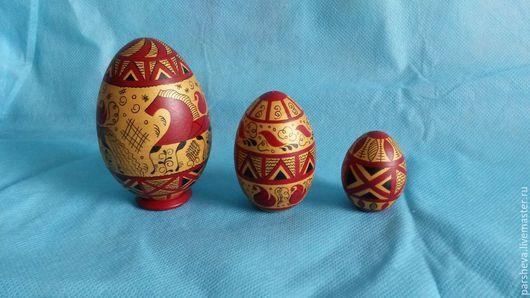 Сувениры ручной работы. Ярмарка Мастеров - ручная работа. Купить Яйцо 3-х местное Мезенская роспись. Handmade.