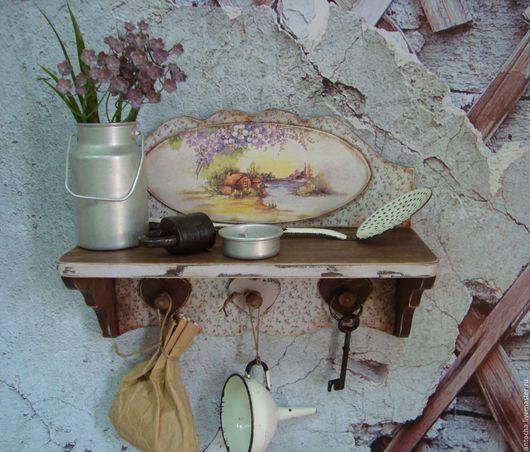 """Мебель ручной работы. Ярмарка Мастеров - ручная работа. Купить Полка """"Деревенская"""". Handmade. Комбинированный, полочка"""