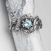 """Украшения ручной работы. Ярмарка Мастеров - ручная работа кольцо из серебра с топазом """"Лесной Полоз"""" в виде змея. Handmade."""