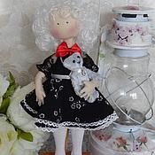 Куклы и игрушки ручной работы. Ярмарка Мастеров - ручная работа Текстильная интерьерная кукла BLACK & WHITE. Handmade.