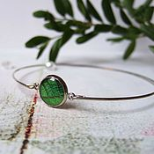 Украшения handmade. Livemaster - original item Bracelet Leaf Emerald Green Leaf Forest Nature Eco Boho. Handmade.