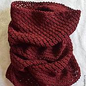 Аксессуары handmade. Livemaster - original item Burgundy Snood, collar, pipe. Handmade.
