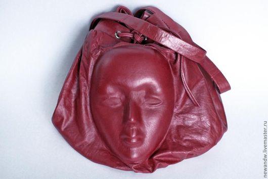 """Рюкзаки ручной работы. Ярмарка Мастеров - ручная работа. Купить Рюкзак из натуральной кожи женский """"Лицо"""" с эффектом 3D. Handmade."""