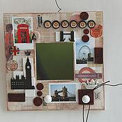 """Для дома и интерьера ручной работы. Ярмарка Мастеров - ручная работа Зеркало-ключница """"Лондон"""". Handmade."""