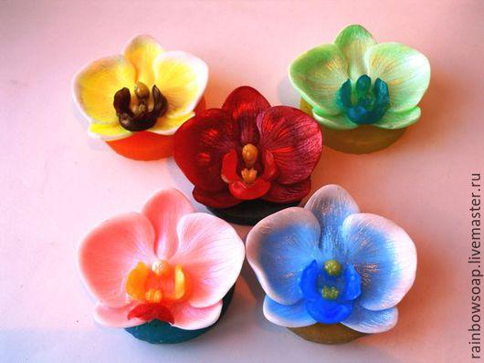 Мыло ручной работы. Ярмарка Мастеров - ручная работа. Купить Мыло Орхидея. Handmade. Комбинированный, подарок девушке, ухаживающие масла