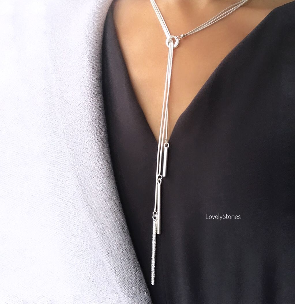 Necklace-tie triple minimalism stylish decoration to everything, Necklace, Yaroslavl,  Фото №1