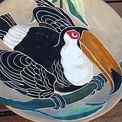 """Посуда ручной работы. Ярмарка Мастеров - ручная работа Тарелка """"Тукан"""". Handmade."""