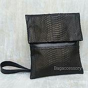 Сумки и аксессуары handmade. Livemaster - original item Men`s bag made of genuine leather and Python skin. Handmade.