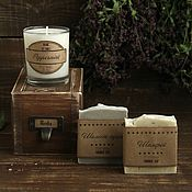 """Сувениры и подарки ручной работы. Ярмарка Мастеров - ручная работа Подарочный набор """"Herbs"""" (свеча и мыло). Handmade."""