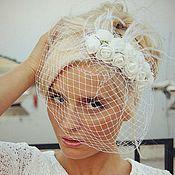 """Шляпы ручной работы. Ярмарка Мастеров - ручная работа Свадебные шляпки-вуалетки """"Zhaki"""". Handmade."""