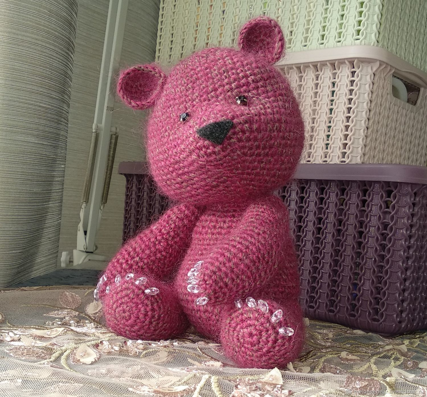 Pink Bear with manicure, Stuffed Toys, Moscow,  Фото №1