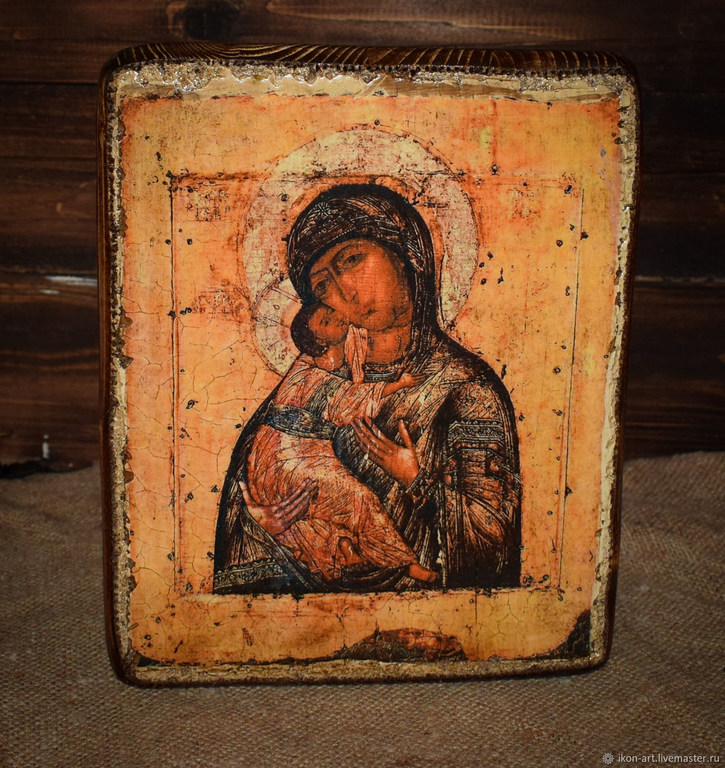 The icon of the mother of God of the Pskov-caves icon