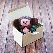 Куклы и игрушки ручной работы. Ярмарка Мастеров - ручная работа Чебурашка (сувенирная игрушка из шерсти). Handmade.