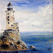 Картины и панно handmade. Livemaster - original item Lighthouse Bay, on. Sakhalin, Russia, oil painting. Handmade.