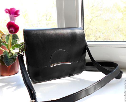 Женские сумки ручной работы. Ярмарка Мастеров - ручная работа. Купить Маленькая черная сумка, кожаная сумка. Handmade. Черный