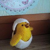 Куклы и игрушки ручной работы. Ярмарка Мастеров - ручная работа Цыплёнок в яице. Handmade.