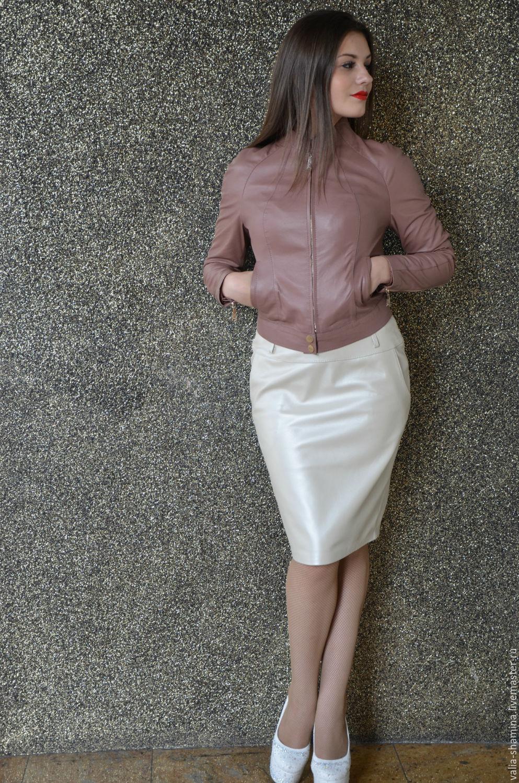 """Кожаная куртка цвет """"пыльная роза"""", Куртки, Курск, Фото №1"""