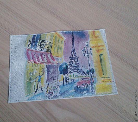 Обложки ручной работы. Ярмарка Мастеров - ручная работа. Купить Париж в красках. Handmade. Обложка для паспорта, кожа натуральная