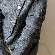 """Одежда ручной работы. Ярмарка Мастеров - ручная работа жакет войлочный """"Silver"""". Handmade."""
