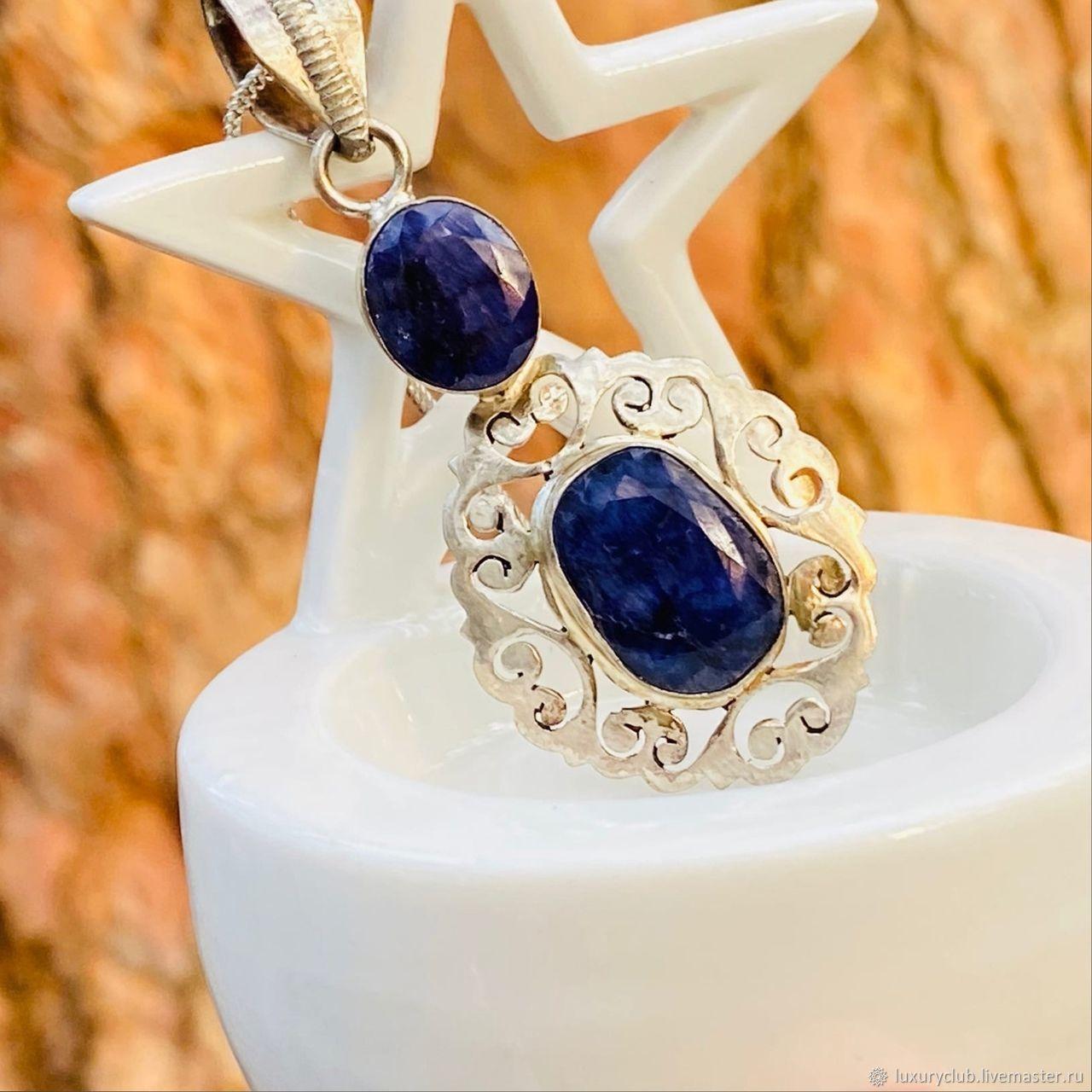 Silver pendant with sapphire, Pendants, Tolyatti,  Фото №1