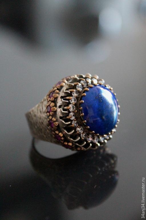 """Кольца ручной работы. Ярмарка Мастеров - ручная работа. Купить Кольцо """" Потерянный Рай """". Handmade. Синий"""