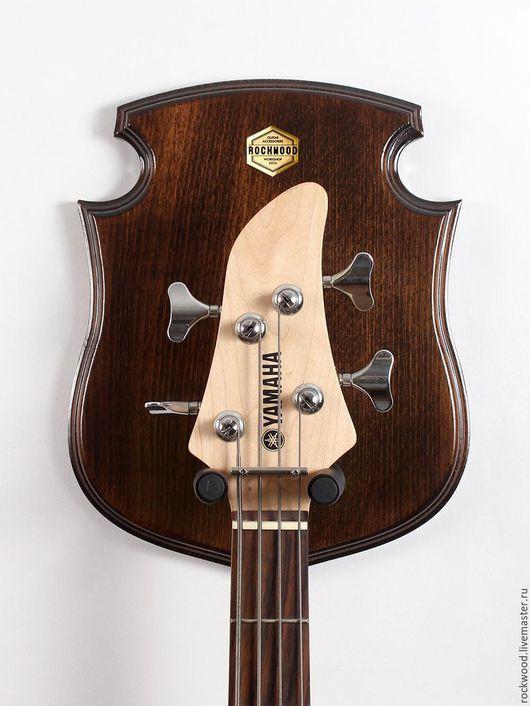 Струнные инструменты ручной работы. Ярмарка Мастеров - ручная работа. Купить STEWARD - настенный держатель гитары. Handmade. Коричневый, крюк