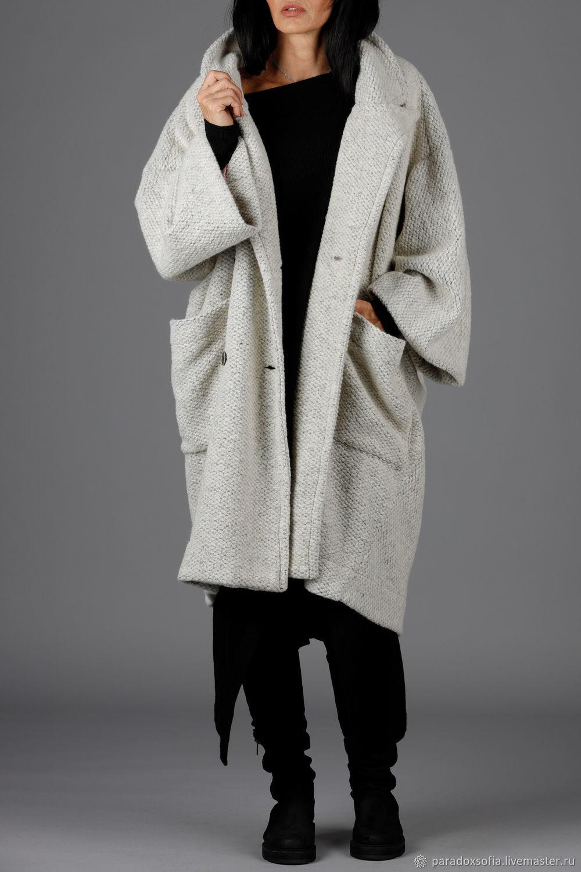 Пальто из трех видов итальянской кашемировой шерсти, шерсти и – заказать на Ярмарке Мастеров – K4XEGRU | Пальто, София