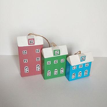 Для дома и интерьера ручной работы. Ярмарка Мастеров - ручная работа Домики: набор из 3 домиков. Handmade.