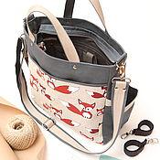"""Большая сумка для мамы """"Лисы"""""""