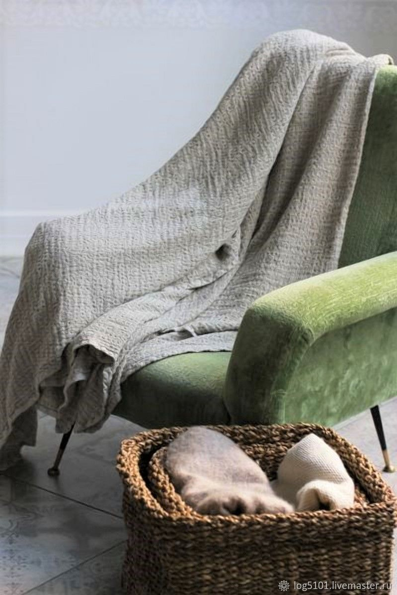 Air summer blanket - Linen blanket - Luxury linen, Blanket, Moscow,  Фото №1