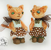 Куклы и игрушки handmade. Livemaster - original item Family of kittens Teddy. Kitty Teddy Daria and cat Teddy Danka. Handmade.