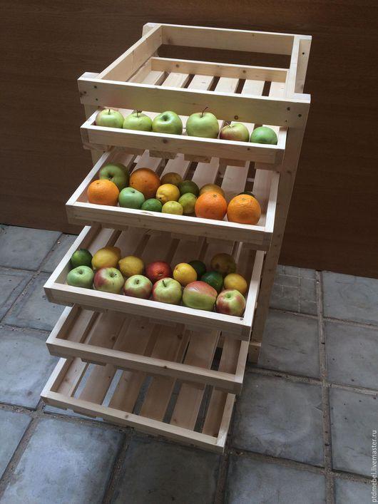 Экстерьер и дача ручной работы. Ярмарка Мастеров - ручная работа. Купить Стойка для хранения овощей и фруктов. Handmade. Бежевый