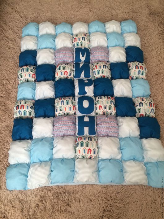 Пледы и одеяла ручной работы. Ярмарка Мастеров - ручная работа. Купить Детское одеяло. Handmade. Синий, одеяло для девочки, подарок