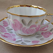 Винтаж handmade. Livemaster - original item A couple of tea. Verbilki. Bone China.. Handmade.