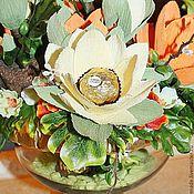 Цветы и флористика ручной работы. Ярмарка Мастеров - ручная работа Джунгли.... букет из конфет. Handmade.