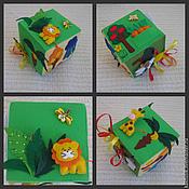 Куклы и игрушки ручной работы. Ярмарка Мастеров - ручная работа Развивающий кубик из фетра. Handmade.