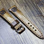 Ремешок для часов ручной работы. Ярмарка Мастеров - ручная работа Ремешок для часов из натуральной кожи. Handmade.