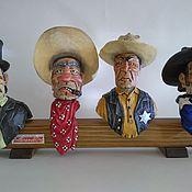 """Подарки к праздникам handmade. Livemaster - original item """"Дикий запад"""" набор из 4-х декоративных пробок для бутылок. Handmade."""