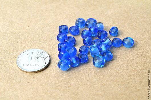 """Для украшений ручной работы. Ярмарка Мастеров - ручная работа. Купить Бусины для рукодельниц - """"мозаика"""" голубые (2). Handmade. Голубой"""
