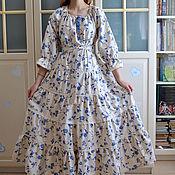 Одежда handmade. Livemaster - original item Dress in boho style linen elegant young Lady. Handmade.
