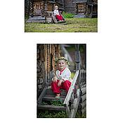 Народные рубахи ручной работы. Ярмарка Мастеров - ручная работа Рубашка детская льняная с ластовицами. Handmade.