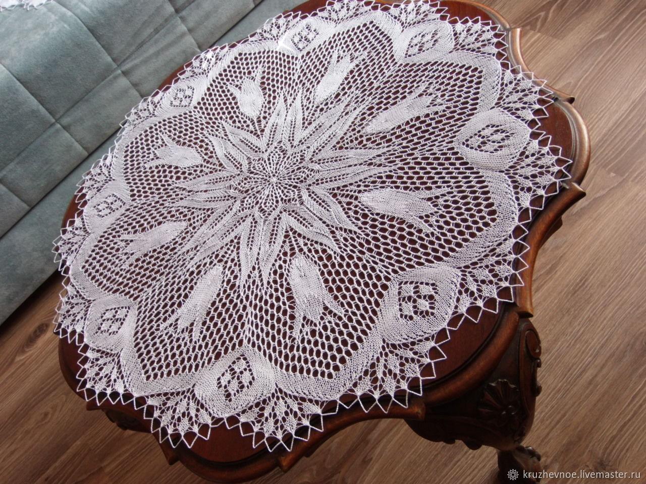 Big doily 'Tulips' based Ericha Engelna, Tablecloths, Vologda,  Фото №1