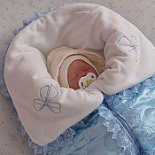 Работы для детей, ручной работы. Ярмарка Мастеров - ручная работа Конверт для новорожденного.Одеяло на выписку.комплекты на выписку.. Handmade.