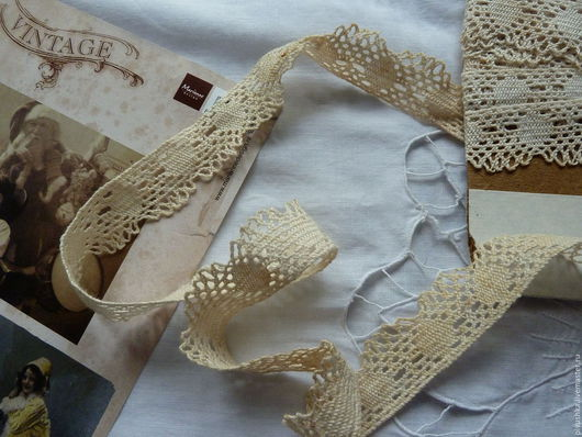 Одежда. Ярмарка Мастеров - ручная работа. Купить Старинное плотное английское кружево. Handmade. Старинное кружево, мерное кружево