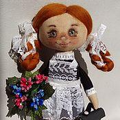Куклы и пупсы ручной работы. Ярмарка Мастеров - ручная работа Кукла-Школьница, Первоклашка. Handmade.